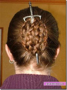 ทรงผมเปียแต่งงานเจ้าสาว แฟชั่นย้อนยุคโรมัน DIY come back
